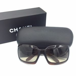 Authentic CHANEL 5076-h Brown Sunglasses